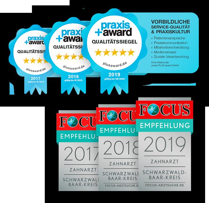 Zahnarztpraxis Auszeichnungen